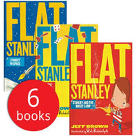 Flat Stanley Collection (6 Book)-BuyBookBook