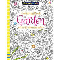 Garden colouring book with rub-down transfers (Mini)-BuyBookBook
