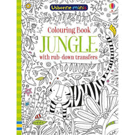 Jungle colouring book with rub-down transfers (Mini)-BuyBookBook