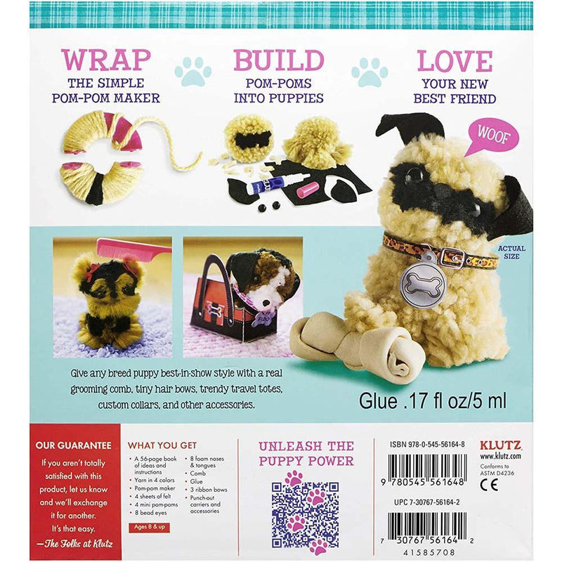 Klutz Pom-Pom Puppies- Make Your Own Adorable Dogs Craft Kit-BuyBookBook