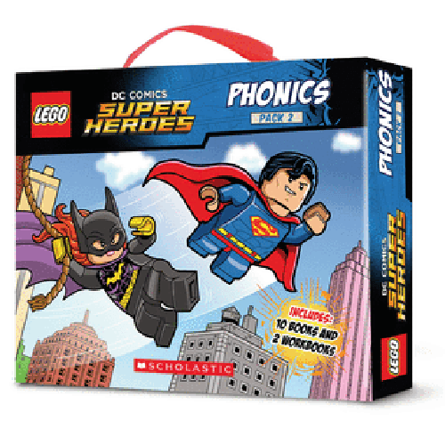 LEGO DC Super Heroes Phonics Collection #2 (12 Books)-BuyBookBook