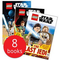 LEGO Star Wars Episode I-VIII Readers Collection (8 Books)-BuyBookBook