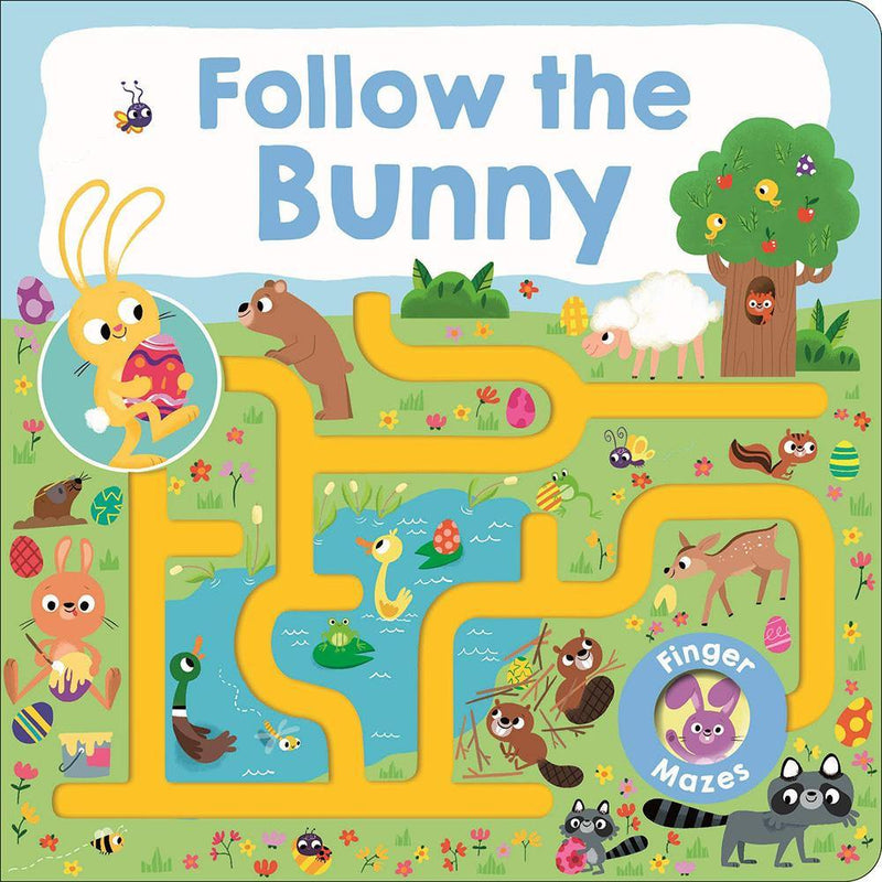 Maze Book: Follow the Bunny (Board Book)-BuyBookBook
