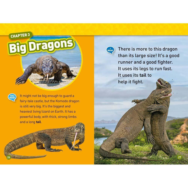 Real Dragons (L3) (National Geographic Kids Readers)-BuyBookBook