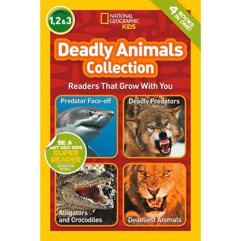 Deadly Animals Collection (L1, L2 and L3) (National Geographic Kids Readers)-BuyBookBook