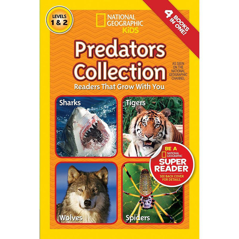 Predators Collection (L1 and L2) (National Geographic Kids Readers)-BuyBookBook