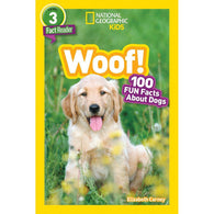 Woof! 100 Fun Facts About Dogs (L3) (National Geographic Kids Readers)-BuyBookBook