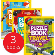 National Geographic Puzzles Collection (3 Books)-BuyBookBook