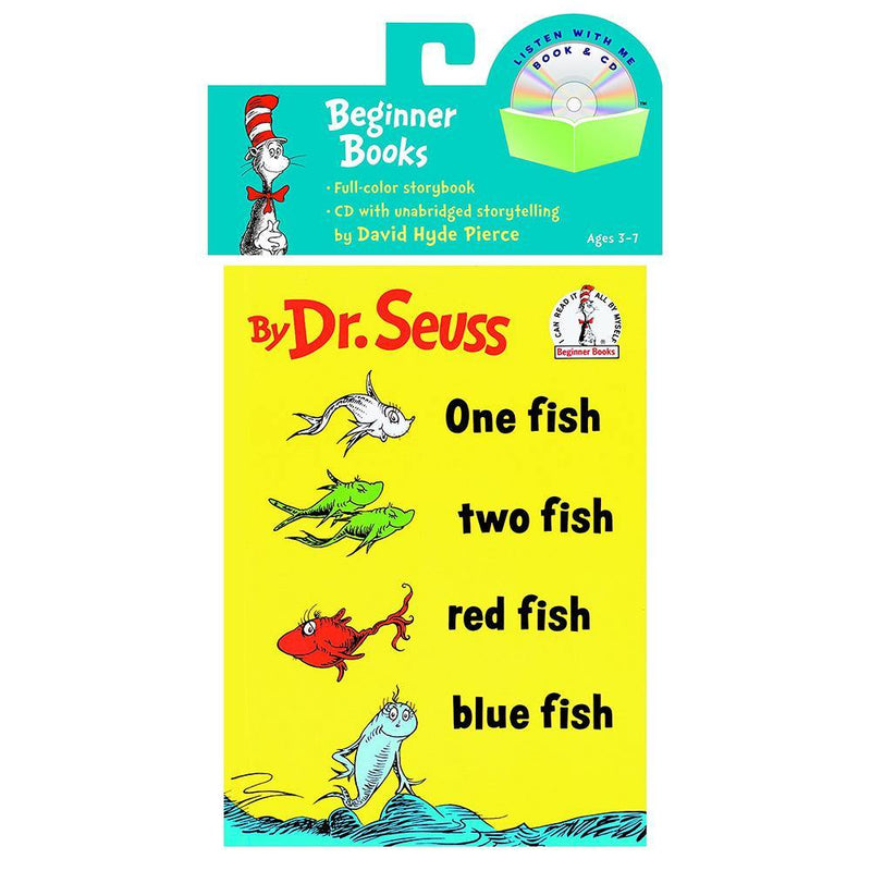 One Fish Two Fish Red Fish Blue Fish (BOOK with CD) (Dr. Seuss)-BuyBookBook