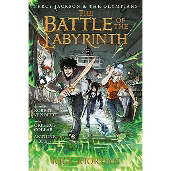Percy Jackson and the Olympians #4 the Battle of the Labyrinth (Graphic Novel)-BuyBookBook