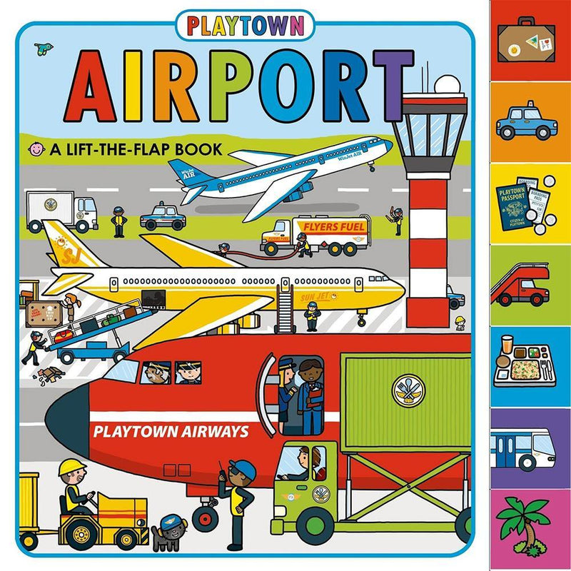 Playtown Airport: A Lift-the-Flap book (Hardback)-BuyBookBook