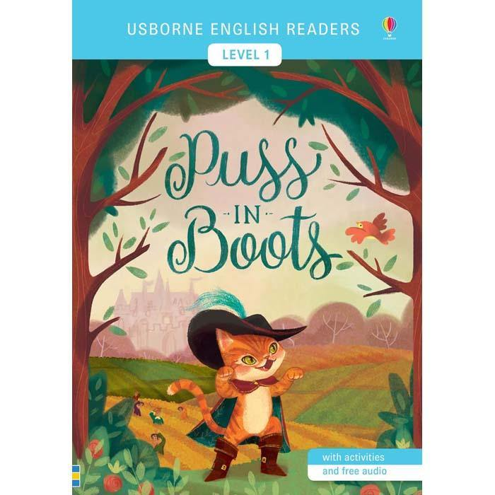 Usborne English Readers (L1) Puss in Boots (QR Code)-BuyBookBook