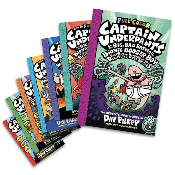 Captain Underpants Color Version #1-7 Bundle (7 book)-BuyBookBook