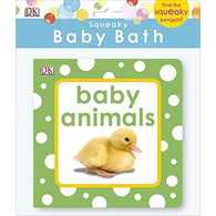 Squeaky Baby Bath Book- Baby Animals-BuyBookBook