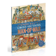 Stephen Biesty's Cross-Sections Man-of-War (Hardback)-BuyBookBook
