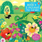 Usborne The Garden book and jigsaw (9pcs x 3 sets)-BuyBookBook
