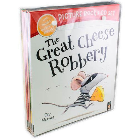 The Great Cheese Robbery and Other Stories Collection (10 Books & CDs)-BuyBookBook