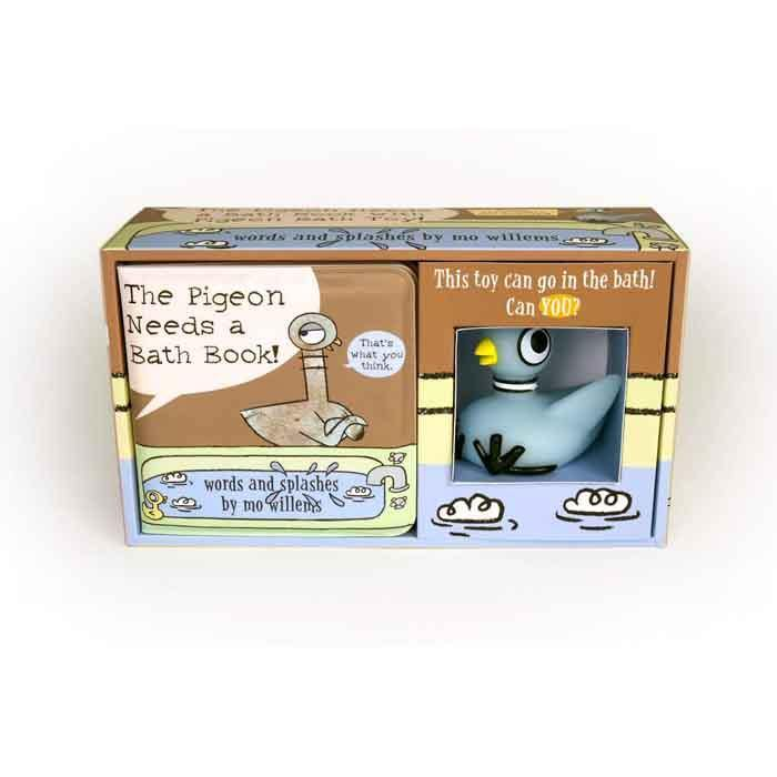 The Pigeon Needs a Bath! (Hardback book with Pigeon Bath Toy)-BuyBookBook