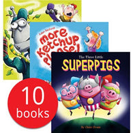 The Three Little Superpigs & Other Stories Collection (10 Books)-BuyBookBook