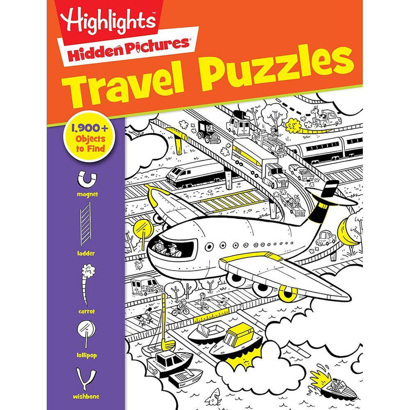 Travel Puzzles Hidden Pictures (Highlights)-BuyBookBook