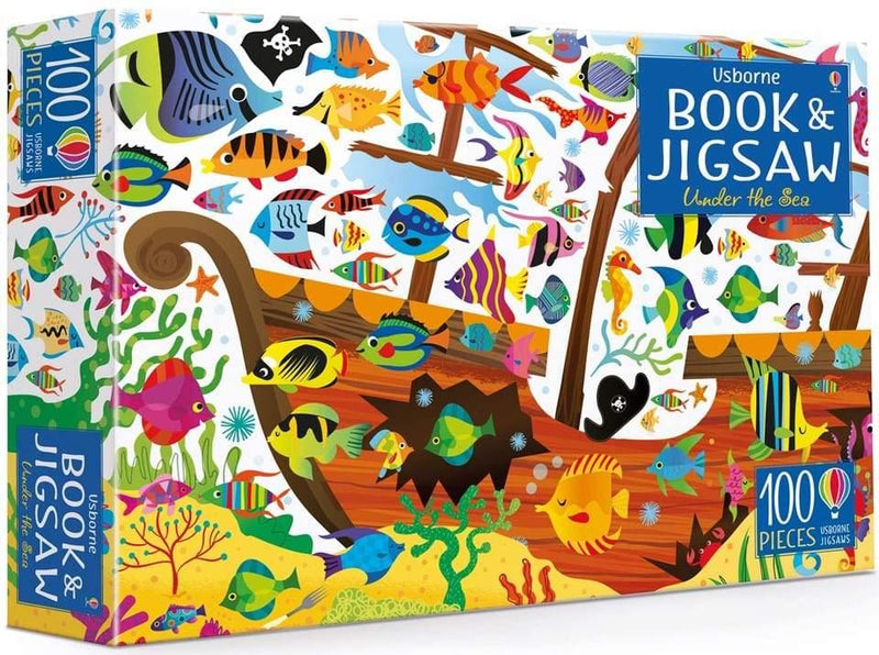 Usborne Under the Sea book and Jigsaw (100 pcs)-BuyBookBook