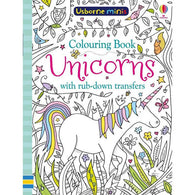 Unicorns colouring book with rub-down transfers (Mini)-BuyBookBook