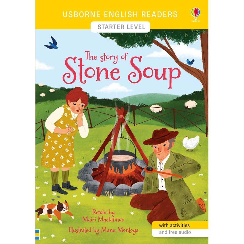 Usborne English Readers (L0) The Story of Stone Soup (QR Code)-BuyBookBook
