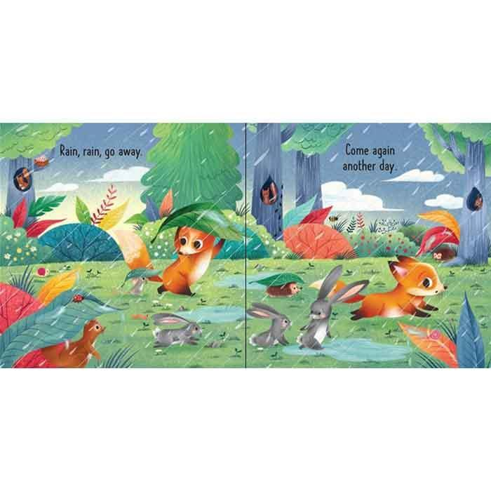 Usborne Little Board Books - Rain, Rain Go Away-BuyBookBook