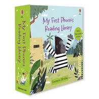 Usborne My First Phonics Reading Library (20 Books with Audio QR code)-BuyBookBook