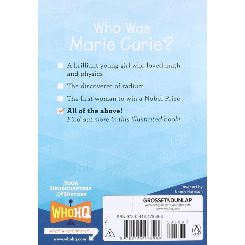 Who Was Marie Curie? (Who | What | Where Series)-BuyBookBook