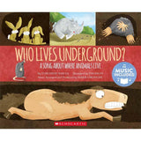Cantata Learning Who Lives Underground? (Book + CD)-BuyBookBook
