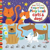 Baby's Very First Touchy-Feely Fingertrail Play Book Cats and Dogs-BuyBookBook