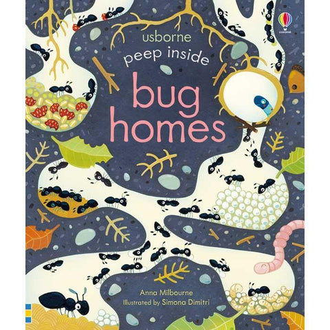 Usborne Peep inside Bug Homes-BuyBookBook