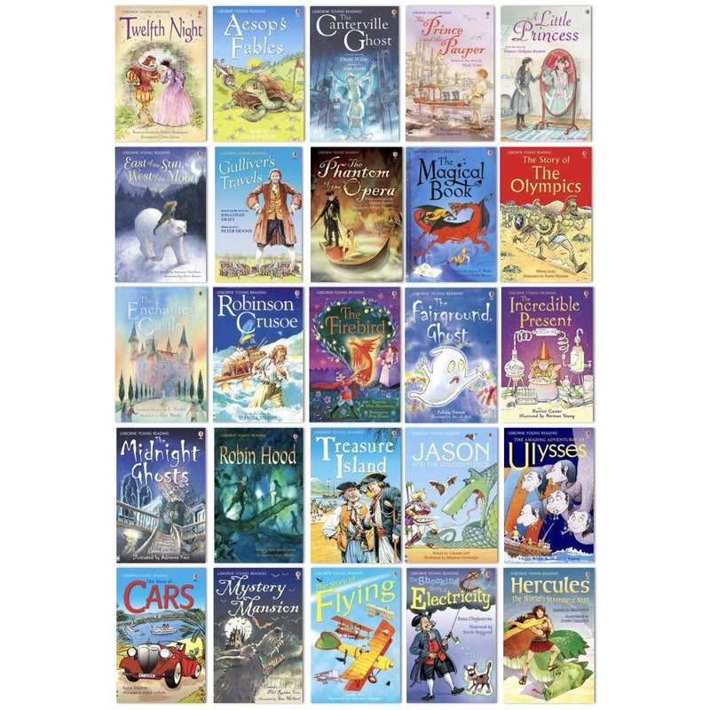 The Usborne Reading Collection for Confident Readers (Stage 4) (40 Books)-BuyBookBook