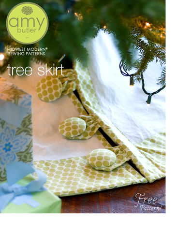 Fabric Shack Amy Butler Christmas Tree Skirt Free Sewing Pattern