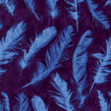 Free Spirit Nel Whatmore Ghost Fabric Collection Feathers Blue Purple Cotton