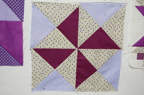 Make May Purple Quilt Fabric Shack Purple Block
