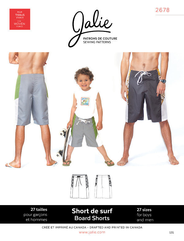 2678 Jalie Mens Gents Boys Childrens Skateboard Board Boaring Shorts sewing sew dressmaking wardrobe tailor tailoring clothes fashion (2)