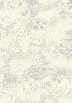 Jane Makower 'Brushed Lace' White/Grey