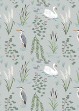 Lewis & Irene 'Down by the River' Swan & Heron Light Grey