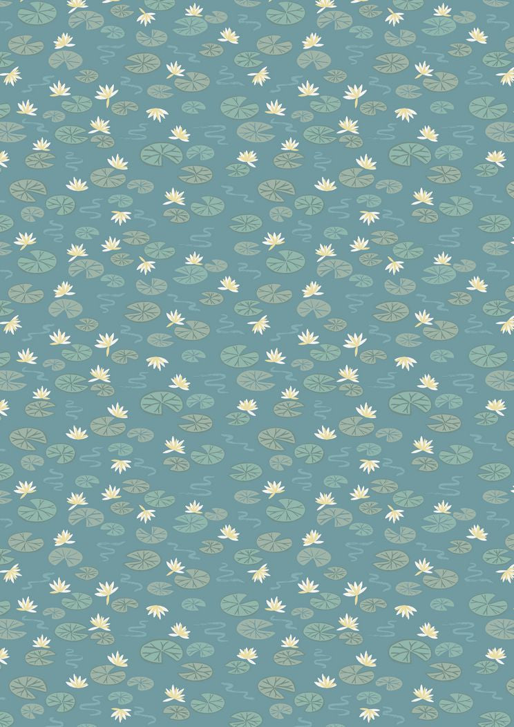 Lewis & Irene 'Down by the River' Lily Pads Teal