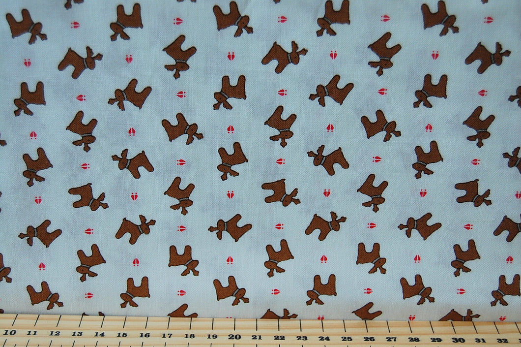Bunny Hill Designs for Moda Sugar Plum Christmas Mini Reindeer Cotton Fabric