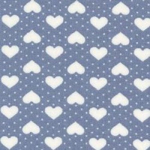 Rose & Hubble Ivory Dots & Hearts on Blue