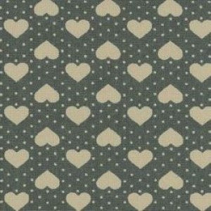 Rose & Hubble Cream Hearts & Dots on Green