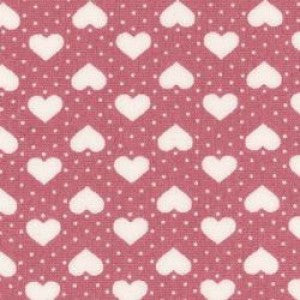 Rose & Hubble Ivory Hearts & Dots on Pink