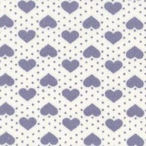 Rose & Hubble Blue Dots & Hearts on Ivory