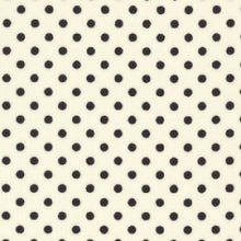 Rose & Hubble Black Spots/Polka Dots on Ivory
