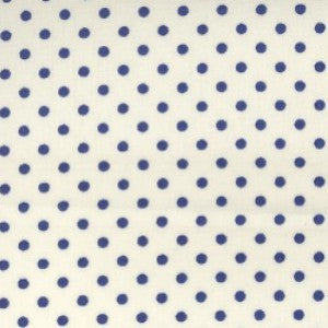 Rose & Hubble Royal Blue Spots/Polka Dots on Ivory