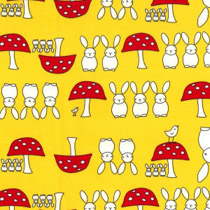 Rose & Hubble Bunnies & Toadstools Yellow