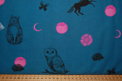 Fabric Shack Sewing Quilting Sew Fat Quarter Cotton Quilt Patchwork Dressmaking Moda Ruby Star Society Sarah Watts Crescent Unicorn Owl Moon Sewing Machine Panel